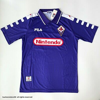 Fiorentina 1998-1999 Home Retro Football Shirt Batistuta #9 Adult Soccer Jersey