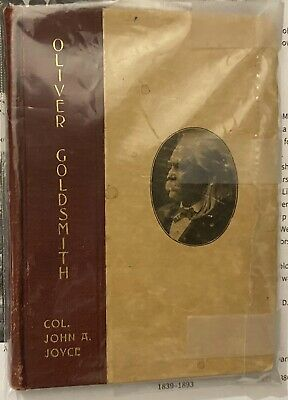 Oliver Goldsmith Book Written And Signed By Civil War Union Colonel John A Joyce