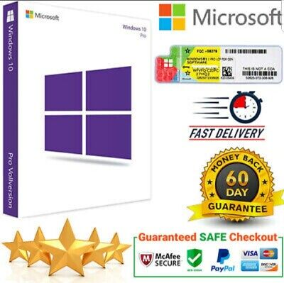 WINDOWS 10 PRO PROFESSIONAL 32 /64 BIT ACTIVATION KEY - Fast DELIVERY