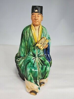 Antique Chinese Signed Mudman Statue