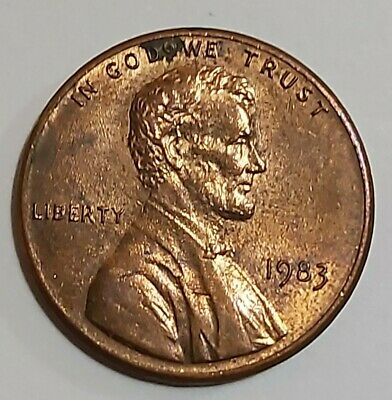 1983 Doubled Die Reverse Lincoln Cent. Error Obverse (In God 'Do' We Trust)
