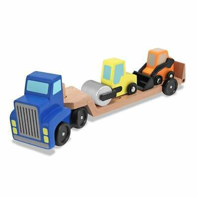 Melissa & Doug Low Loader Vehicle Yellow, Blue, Orange