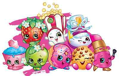 "Shopkins Iron On Transfer, 4.5""x7"" For LIGHT Fabrics"