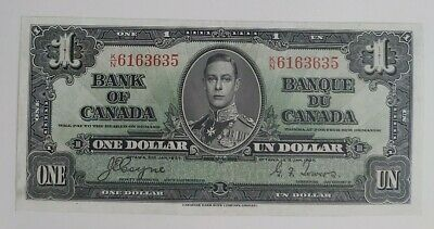 Bank of Canada 1937 $1 Note. BC-21d, Coyne-Towers, K/N 6163635