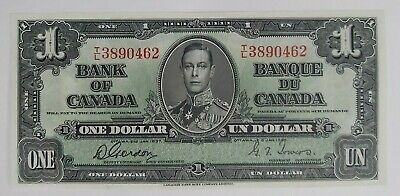 Bank of Canada 1937 $1 Note. BC-21c, Gordon-Towers, T/L 3890462