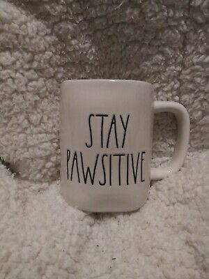 """RAE DUNN """"Stay Pawsitive ** LARGE LETTER NEW HTF/RARE '18-'20"""