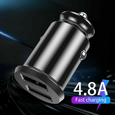 Mini Dual USB Port Car Fast Charger Adapter 4.8A Quick Charging For Android iOS