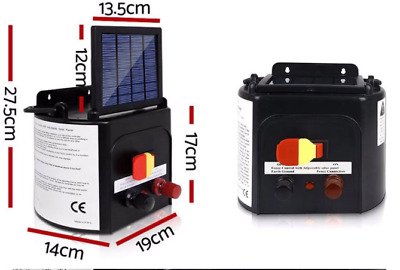 Giantz 5km 0.15J Solar Electric Fence Energiser Farm Charger