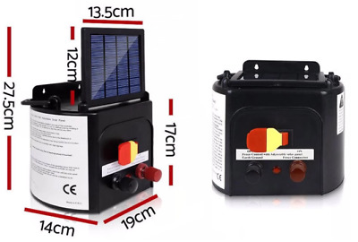 Giantz 3km 0.1J Solar Electric Fence Energiser Farm Charger