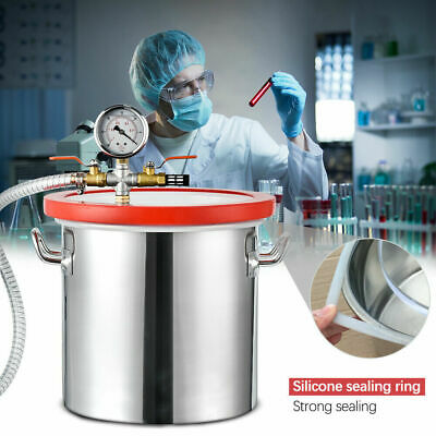 3 Quart Stainless Steel Vacuum Chamber Kits for Degases Epoxies Essential Oils
