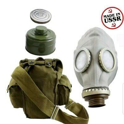 Russian soviet GP-5 Military rubber Gas Mask w/ Filter size M and S adult