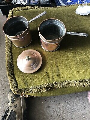 Antique Copper Double Pan Small Size