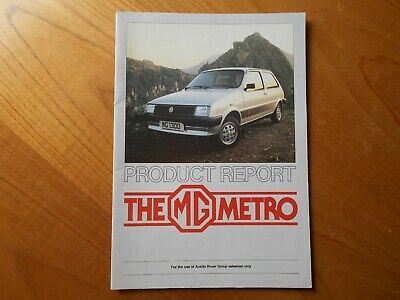 MG Metro Product Report - For Austin Rover Salesmen Only