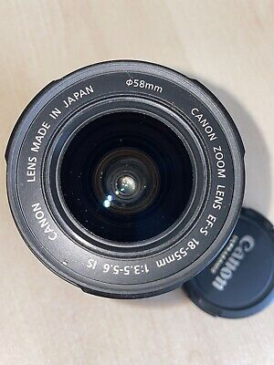 Canon EF-S 18-55mm f/3.5-5.6 IS Lens.