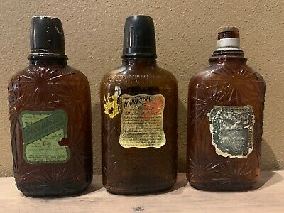 Vintage Whiskey and Bourbon Bottles - Greenbrier, Four Roses, and Old Crow