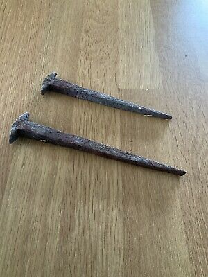 Old Vintage Nails Wrought Iron Hand Forged Traditional