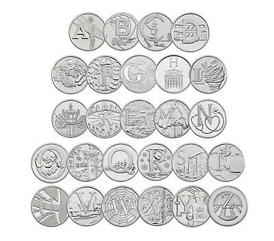 FULL SET OF ALL 26 NEW 2018 UK A-Z ALPHABET 10p / TEN PENCE COINS UNCIRCULATED