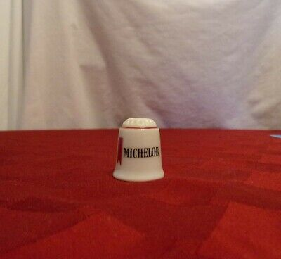 Reutter Porcelain Michelob Beer Advertising Thimble, great cond