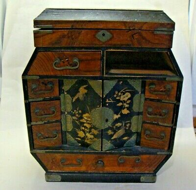 Meji period Japanese table top with draws