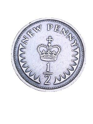 1/2p Coin - QE2 1/2 Half Penny Coins - UK Circulated 1971