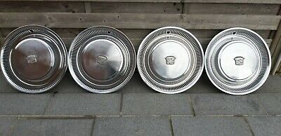 """1974 75 76 Cadillac Deville Fleetwood 15"""" Hubcaps wheeel covers vintage classic"""