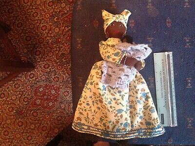 Black mammy doll cradling baby hand crafted ooak