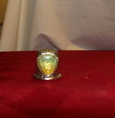 Pewter Nags Head, NC Horse Shield Thimble, great condition