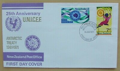 1971 New Zealand First Day Cover Antarctic Treaty