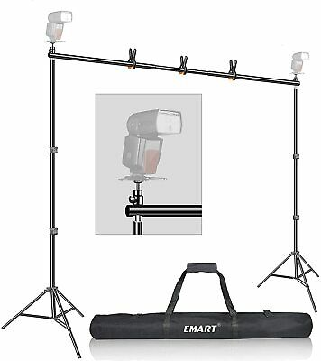 Emart 7x10ft Photo Video Studio Muslin Background Stand Backdrop Support System