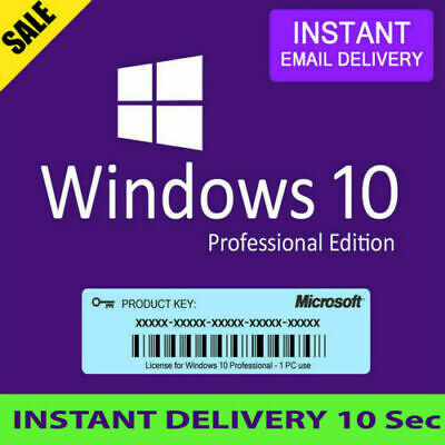Windows 10 Professional OEM Key, can use to upgrade HOME to PRO INSTANT DELIVERY