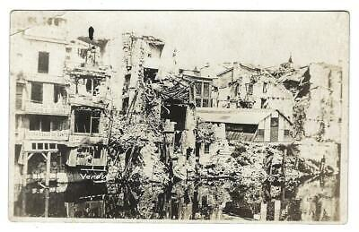 Rppc Bombing Of Verdun France Ww1 Military Real Photo Postcard