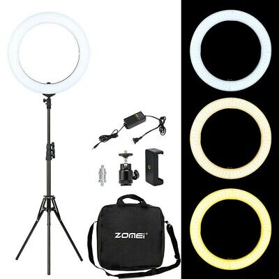 BRANDNEW 18'' LED SMD Ring Light Kit With Stand Dimmable 5500K For Camera Makeup