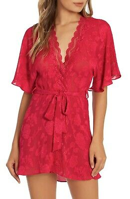 In Bloom by Jonquil Lace Wrap Robe, Red, M-L