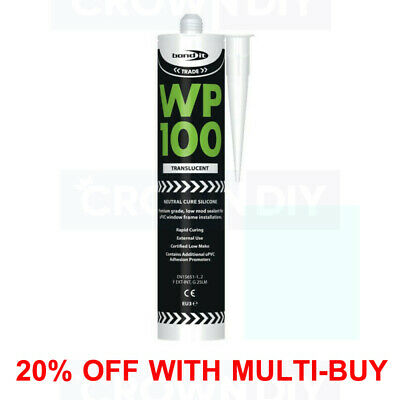 CLEAR Bond It WP100 Silicone Sealant Rapid Cure Mastic Exterior General Purpose