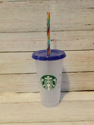 Starbucks Confetti Color Changing Cup  Rainbow Straw Pride Summer 2020 🌈