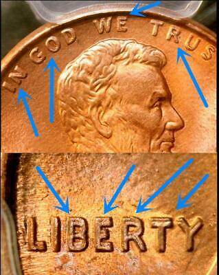 """ERROR"" 1995 Doubled Die Obverse US Lincoln Memorial Cent 1c .01 PCGS MS66RD"