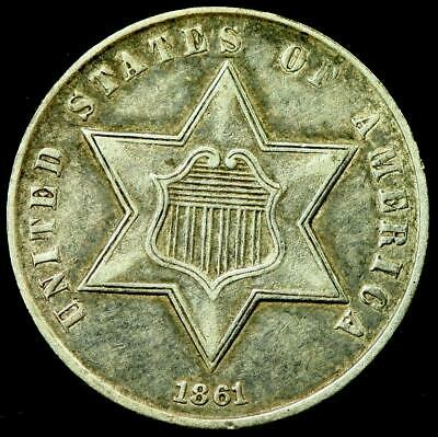 1861 THREE CENT SILVERS 3c ~~XF++