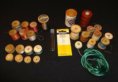 Lot of Vintage Wood Spools of Thread Silk Linen Corticelli Clarks Star (Charity)