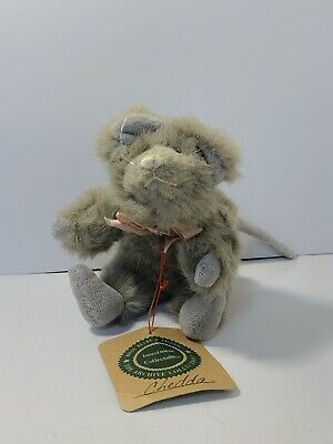 Boyds Plush Mouse - gray CHEDDA MOUSAKA (old face version) with tag
