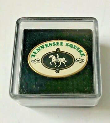 Jack Daniels Tennessee Squire Association pin in original box, vintage.