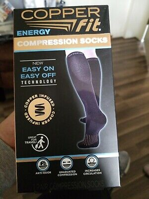 1 Pair Copper Fit Energy Knee High Compression Sock L/XL
