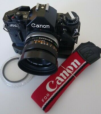 Canon A1+ 50mm f1.8 + Databack + Winder  **NEW LIGHT SEALS & BATTERY**