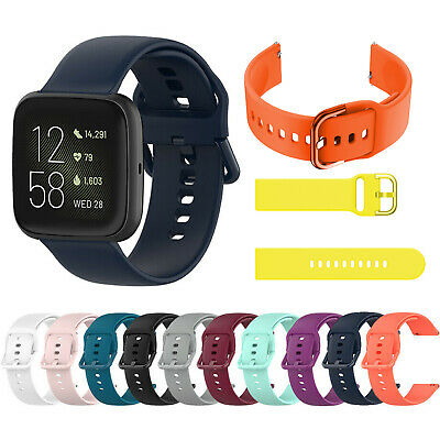 Replacement Sport Silicone Watch Band Strap for Fitbit Versa 2/1/Lite Wristband