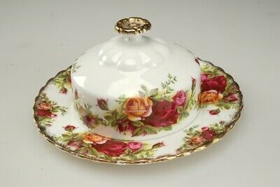 """Royal Albert """"Old Country Roses"""" Butter Dish 6.25"""" Plate"""