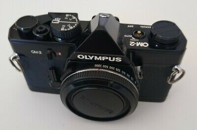 Olympus OM-2 Black 35mm SLR Film Camera Body Only, **WORKING BUT NO SWITCH**