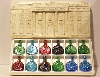 Wheaton Decanters Miniature Presidential Bottle Collection Set of 12 w/ Box Nice