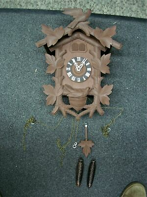 Vintage German Cuckoo Clock - Looks Complete - A Nice Project Or Just Wall Decor