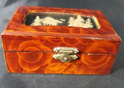 Vintage Chinese Handmade & Carved Jewelry Box