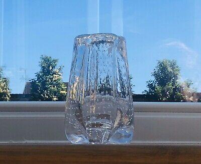 Whitefriars Controlled Bubble Lobed Vase in Flint, Pattern #9775