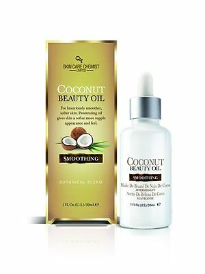 Skin Care Chemist Limited Coconut Beauty Oil  Smoothing 1 fl. oz./30 ml. N.I.B.